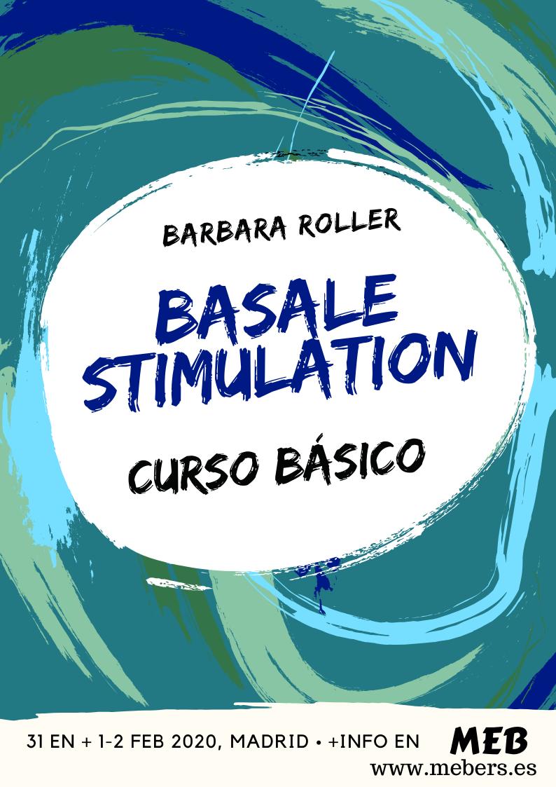 Cartel curso estimulacion basal en MEB