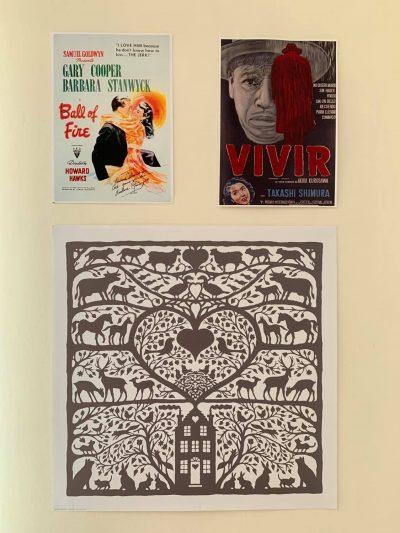 Posters que ilustran las paredes de MEB