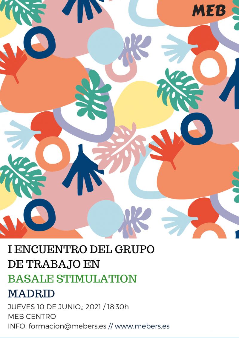 cartel con la informacion practica para el grupo de trabajo en estimulación basal